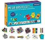 Smowo® Mega Bastelset Starterset - Bastelbox Mix - mit kreativen Bastelideen - Bunte Bastelbedarf...