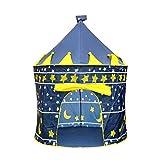 Lalia Spielzelt rund für Mädchen oder Jungen, 135cm hoch. Burg Turm für Prinzen, Pop up Super...