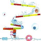 Badespielzeug Kinder Kinderspielzeug Badespielzeug Kugelbahn Badewannenspielzeug Wasserspielzeug mit...