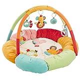 Fehn 074611 3-D-Activity-Nest Safari / Besonders weicher Spielbogen mit 5 abnehmbaren Spielzeugen...
