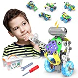 CENOVE STEM 5 IN 1 Bildungsbausteine Spielzeug für Junge, 109 Stück Konstruktionsspielzeug mit...