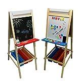 TikTakToo höhenverstellbar Standkindertafel Magnettafel Kindertafel Standtafel Maltafel