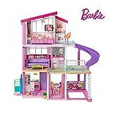 Barbie FHY73 Traumvilla Dreamhouse Adventures Puppenhaus mit 3 Etagen, 8 Zimmer, Pool mit Rutsche...