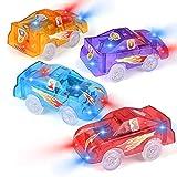 Funkprofi Spielzeugauto Set ab 3 Jahren, 4 Pack Kinderspielzeug mit 5 LED Spielzeugautos Set für...