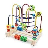 Nuheby Motorikschleife Holz Spielzeug Baby Lernspielzeug 6 Insekt Labyrinth Spiel Abakus Spielzeug...
