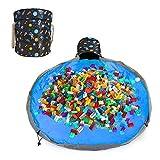 Aufräumsack Kinder, Spielzeug Aufbewahrung Tasche mit Drawstring & Deckel Spieldecke,...