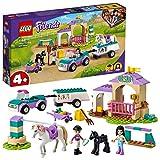 LEGO 41441 Friends Trainingskoppel und Pferdeanhänger, Spielzeug ab 4 Jahre für Mädchen und...
