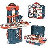 Dreamon 3 IN 1 RollenspielKinder Werkzeugkoffer Werkbank, DIY Spielzeug Set Geschenke ab 3,4,5...
