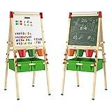 Homfa Kinder Staffelei Kindertafel Doppelseitige Standtafel Magnet Spieltafel Kreidetafel mit...