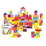 Mertens Klötzchen-Trommel mit 100 Stück, Kinderspielzeug ab 1 Jahr (farbenfrohe & formenreiche...