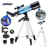 Aomekie Teleskop Astronomie 70/400 Fernrohr Teleskop für Kinder Einsteiger Amateur-Astronomen mit...