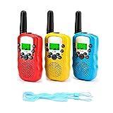 Fansteck 3er Walkie Talkies für Kinder, Funkgeräte Set mit Taschenlampe, 8 Kanäle 3KM Reichweite...