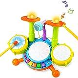 Kinder Trommel Spielzeug Musikinstrumente für Kleinkinder Mit Kinderreimen Elektronisches...
