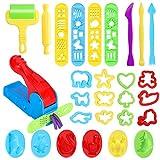 Ucradle 28 Stück Knetwerkzeug Teig Plastilin Werkzeuge, Vielseitiges Knete Werkzeug Kinder Knete...