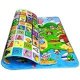 Kinder Spielteppich Bauernhof 200x180 CM StillCool Krabbeldecke Antirutsch 2 Seiten Kinderteppich...