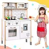 Tiny Land Kinderküche für Kinder mit 18 Spielzeug Nahrungs- und Kochgeschirr Zubehör Kinderküche...