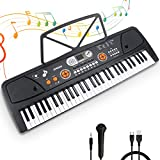 Digital Keyboard, Elektronische Klaviertastatur 61 Tasten,Tragbare Elektronische Klaviertastatur...