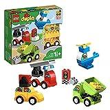 LEGO 10886 DUPLO Meine ersten Fahrzeuge, Bauset mit 4 baubaren Fahrzeugen für Kinder im Alter von...