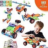 LUKAT STEM Gebäude Lern spielzeug für Kinder, 165 Teiliger DIY Kreative Bauklötze Pädagogische...