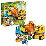 LEGO DUPLO 10812 - Bagger & Lastwagen | Kleinkind Spielzeug ab 2 Jahren