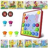 Kinder Buntes Steckspiel,Lernspielzeug Geschenke ,Mosaik Steckspiel für Kinder ab 3...