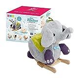 GERARDO`S Plüsch-Schaukelelefant mit Musik. Schaukelelefant für Kleinkinder. Schaukeltier für...