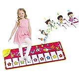 EXTSUD Piano Mat Tanzmatten Musikmatte Klaviermatte Kinder 8 Tierstimmen Klaviertastatur Spielzeug...