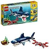 Lego 31088 Creator Bewohner der Tiefsee mit Hai, Krabbe und Schatztruhe, 3-in-1...