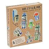 Re Cycle Me DEFG1110 Recycling Bastelspaß Robotor, Bastelset für 6 Modelle, Kreativset für Kinder...