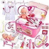 Buyger Mädchen Spielzeug Arztkoffer Doktorkoffer Kinder Arztkittel Kostüm Rollenspiel Spielzeug...