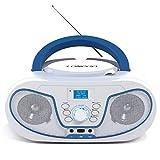 LONPOO Tragbare CD-Player für Kinder Bluetooth Boombox mit DAB+ Radio, USB Eingang, AUX-IN, 2 x...