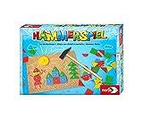 Noris 606049101 Hammerspiel, Lern- und Geschicklichkeitsspiel mit 50 bunten Holzbauteilen in...