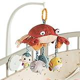 TUMAMA Baby Hängende Spielzeug Plüsch Rassel Ringe Krabbe mit Babyspiegel für Rücksitz...