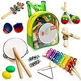 Tomi Music – 18 teiliges Musikinstrumente Set für Kleinkinder, Vorschulkinder, Kinder und Babys...