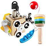 Activity Board Busy Cube Motorikwürfel Montessori Spielzeug, Baby Lernspielzeug Aktivitäts...