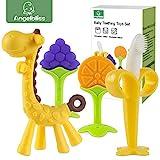 beißring für babys by ANGELBLISS, Baby Zahnen Spielzeug für Babys Kleinkinder- weiches Silikon,...