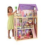 KidKraft 65092 Puppenhaus Kayla aus Holz mit Möbeln und Zubehör, Spielset mit drei Spielebenen...