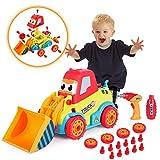 VATOS Bulldozer Spielzeugautos für Kleinkinder Disassemblable Spielzeug Auto Kit Baufahrzeuge...