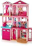Barbie FFY84 - Traumvilla Puppenhaus mit 7 Zimmer, Garage und Zubehör, mit Lichter und Geräuschen,...
