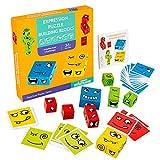 Holzwürfel Spielzeug, Zauberwürfel-Bausteine, Spielzeug Gesicht ändern Würfel, Montessori...
