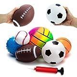 BACIVIC 6 stück Kinderball Softball Baby Ball, Softbälle Kinder Spielzeugball für Baby -...