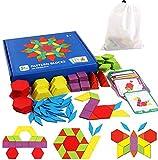 Tangram Kinder Geometrische Formen HolzPuzzles - Montessori Spielzeug Puzzle mit 155 geometrischen...