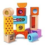 Eichhorn Holz-Soundbausteine, 12 bunt bedruckte Klangbausteine mit verschiedenen Geräuschen,...