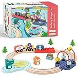 Tiny Land Holzzugset Lernen sensorisch Feinmotorik Spielzeug für Kleinkinder ab 18 Monaten -...