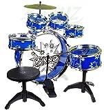 BSD Steinbach Kinderschlagzeug, Schlagzeug mit Hocker und 2 Trommelstöcken, Schlagzeug Drumset,...