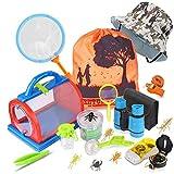 Draussen Forscherset & Bug Catcher Kit 20 Stück mit Kinder fernglas, Kompass Lupe, Insect Critter...