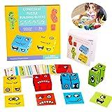 Sunshine smile Spielzeug Gesicht ändern würfel,Holzwürfel Spielzeug, Zauberwürfel-Bausteine,...