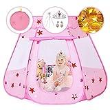 Pickwoo Pop Up Spielzelt Rosa Kinderzelt Princess Dream Castle Spielen mit LED Sternenlicht und...