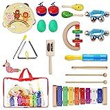 YISSVIC 13PCS Musikinstrumente Musical Instruments Set Spielzeug von Holz Percussion Schlagzeug...