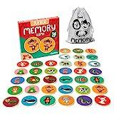 Cottify Memory Spiel, Memory ab 2 Jahr, Memory für Kinder mit niedlichen Tieren, Memory Holz,...
